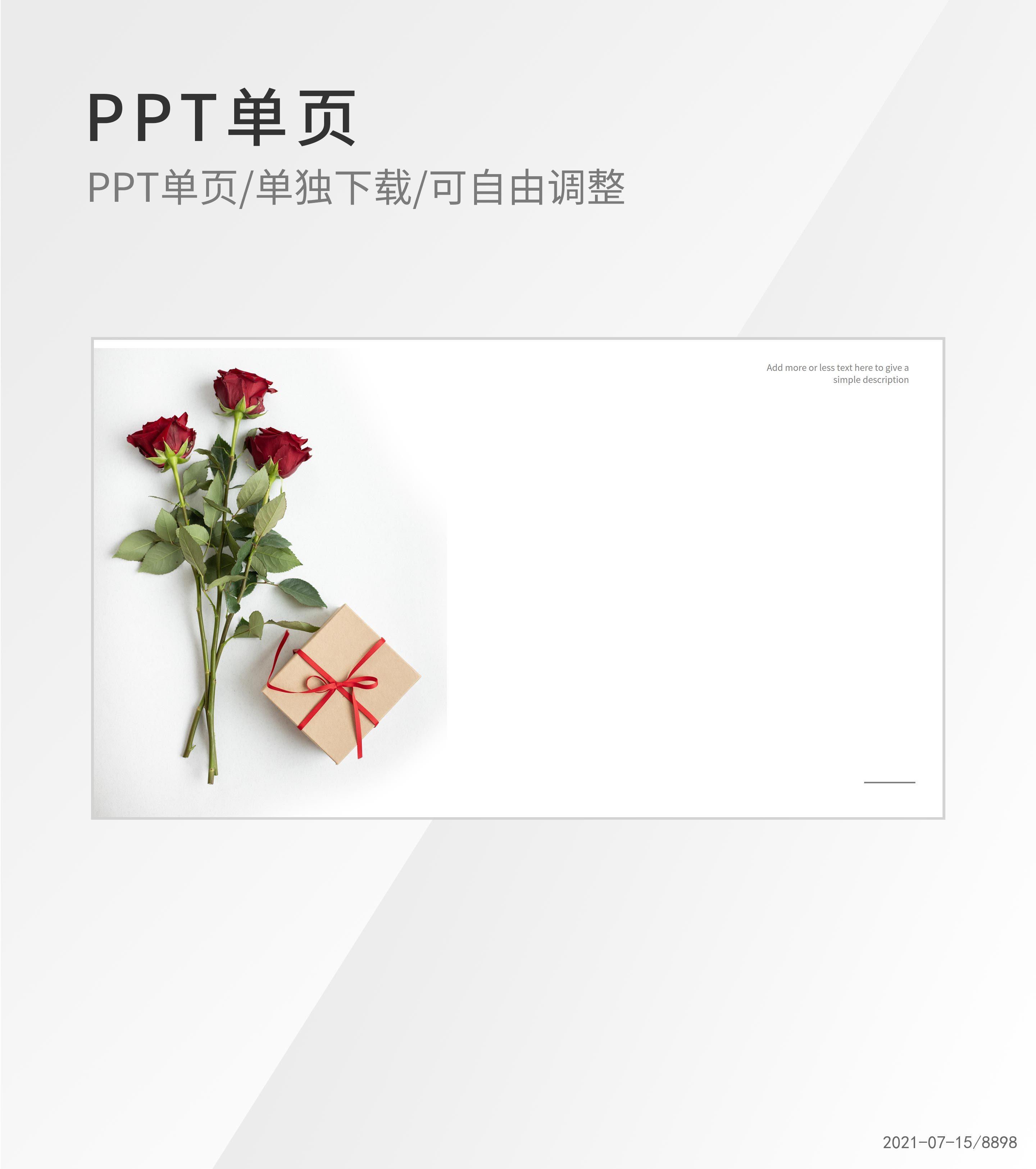 白色唯美画册风PPT封面背景